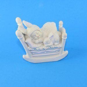 Snowbunnies Rock-a-bye Bunny Figurine